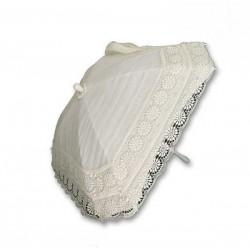 Sombrilla de novia de organza y guipur