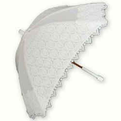 Sombrilla blanca y radiante