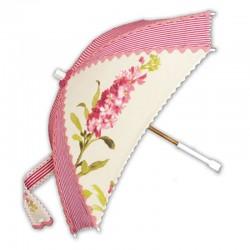 Sombrilla con jacintos rosados