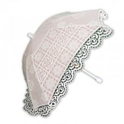 Sombrilla de novia con guipur y tul