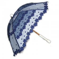 Sombrillas de violetas azules