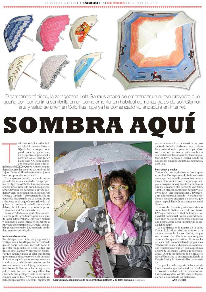 Solbrillas Heraldo 13 abr 2013 reportaje