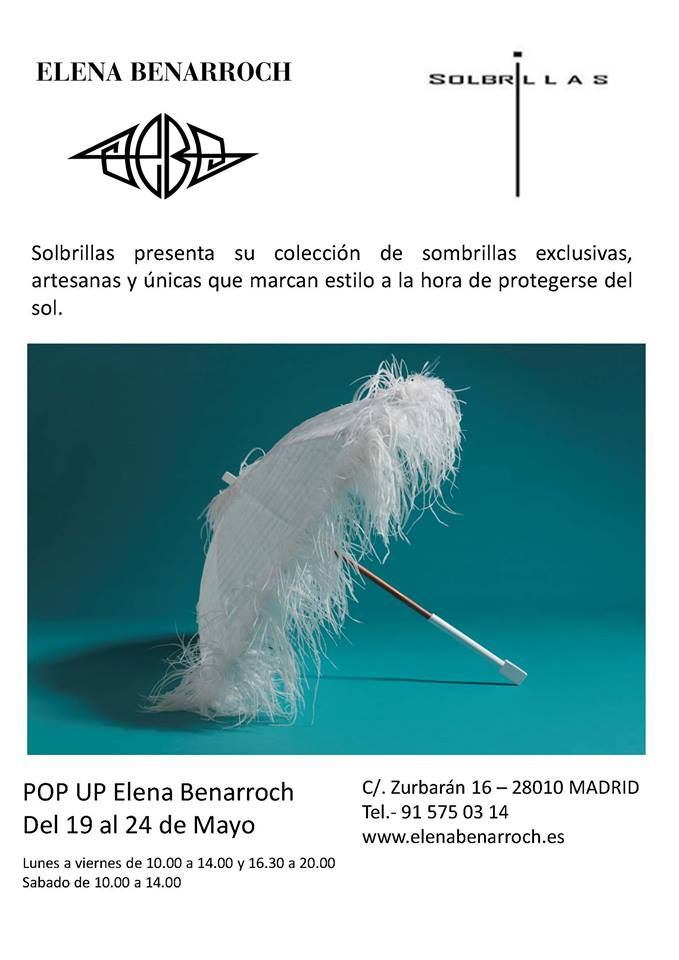 cartel pop up solbrillas benarroch madrid 2014